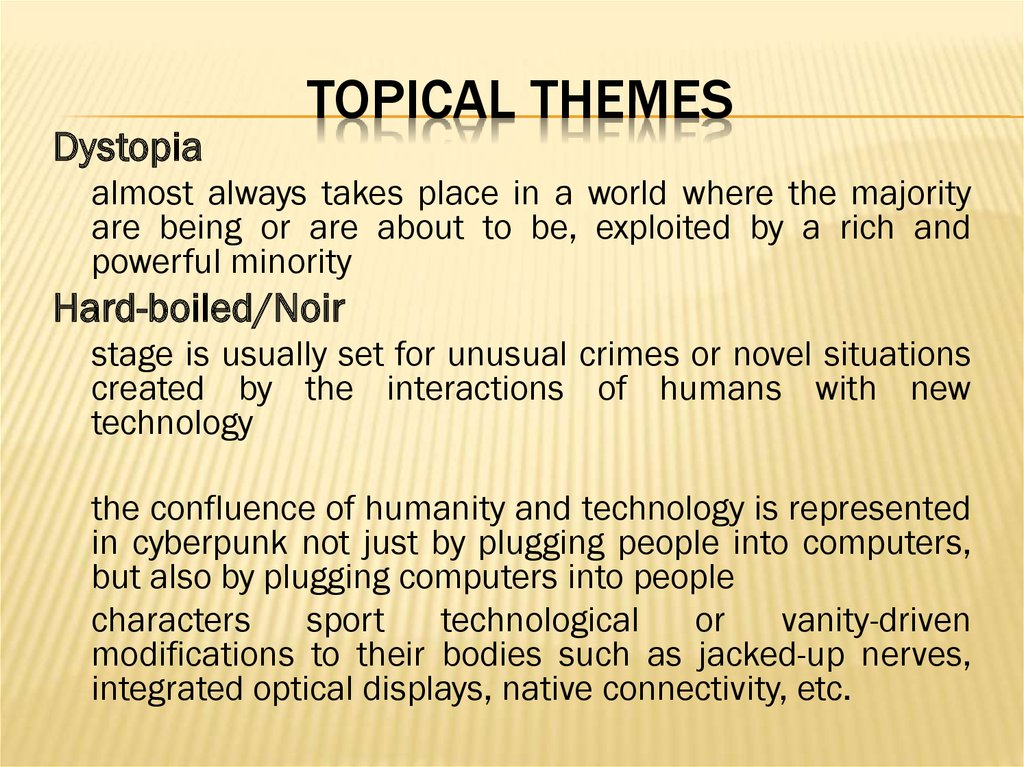 Topical Themes