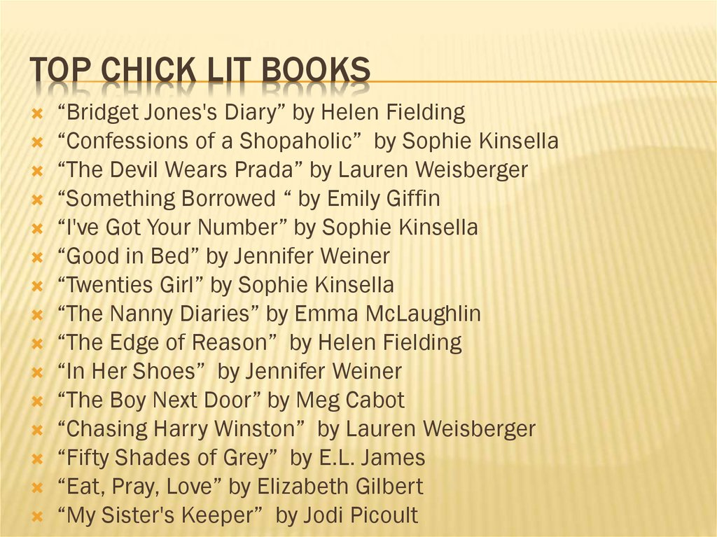 TOP CHICK LIT BOOKS