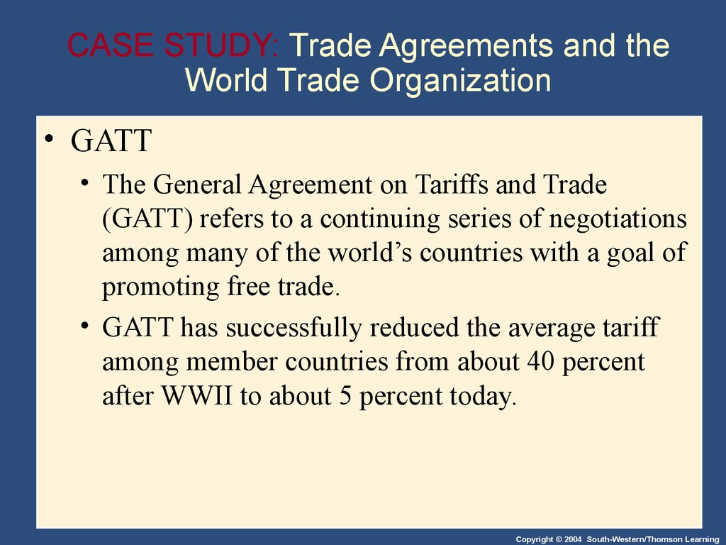 Trade Agreements And World Trade Organi College Paper Writing
