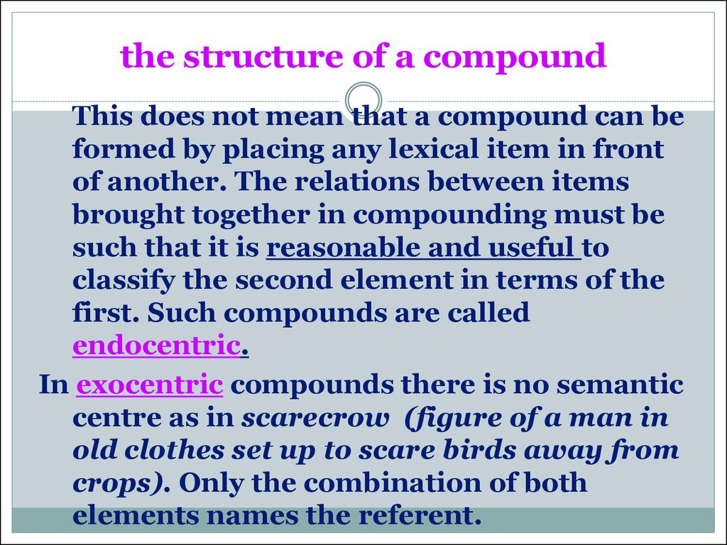 the structure of a compound