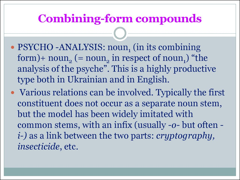 Combining-form compounds