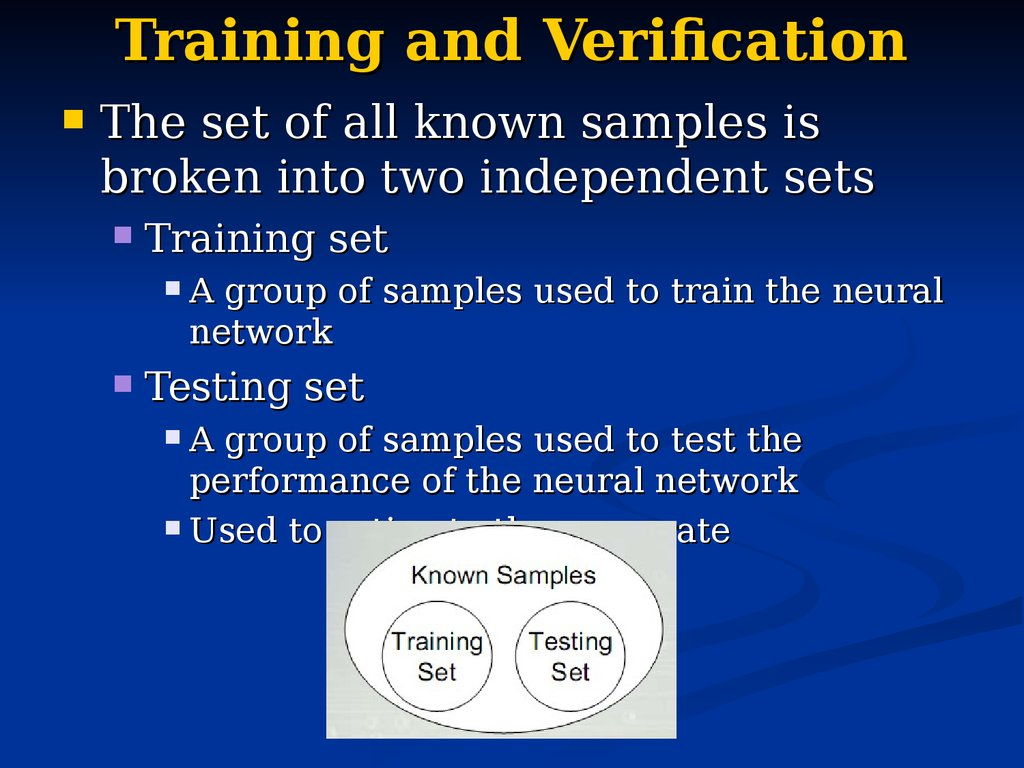 Training and Verification