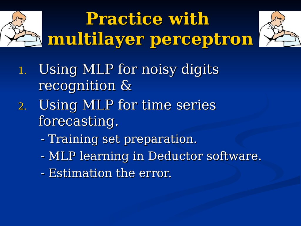 Practice with multilayer perceptron