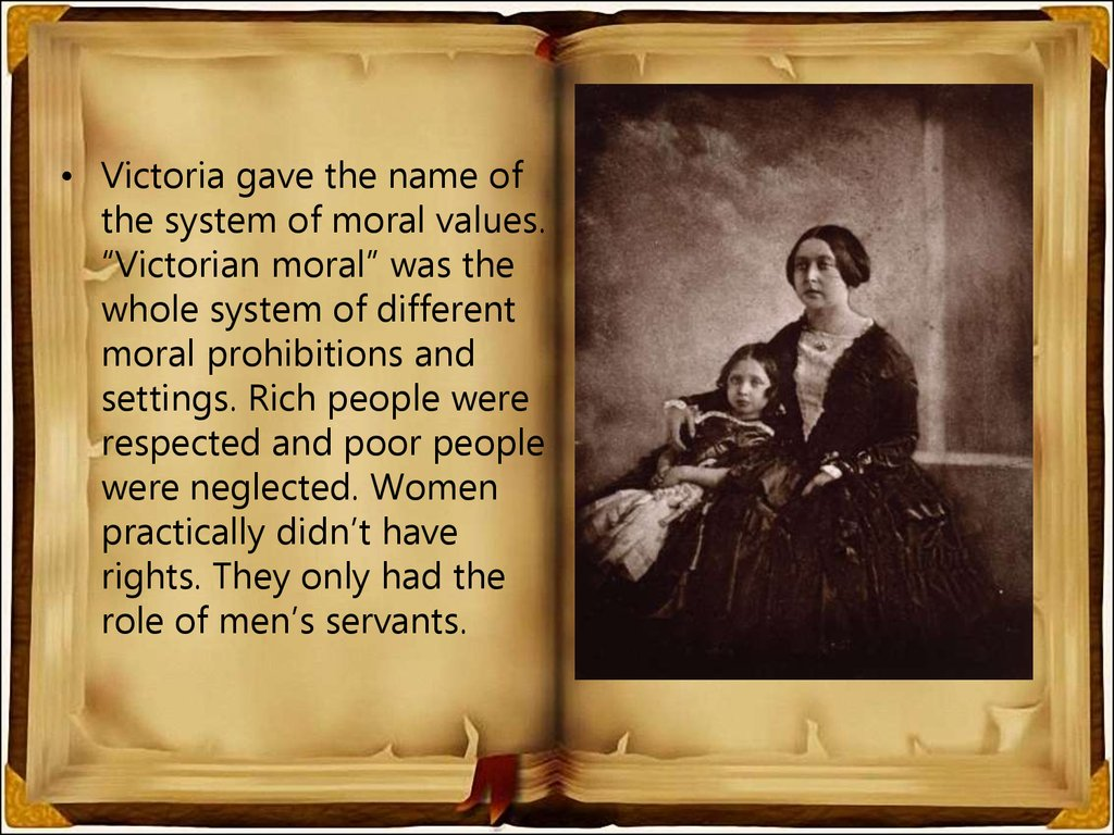 victorian morals and values