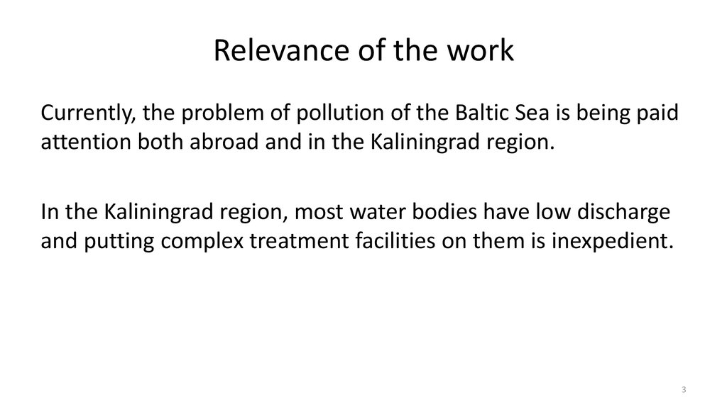 relevance about water pollution