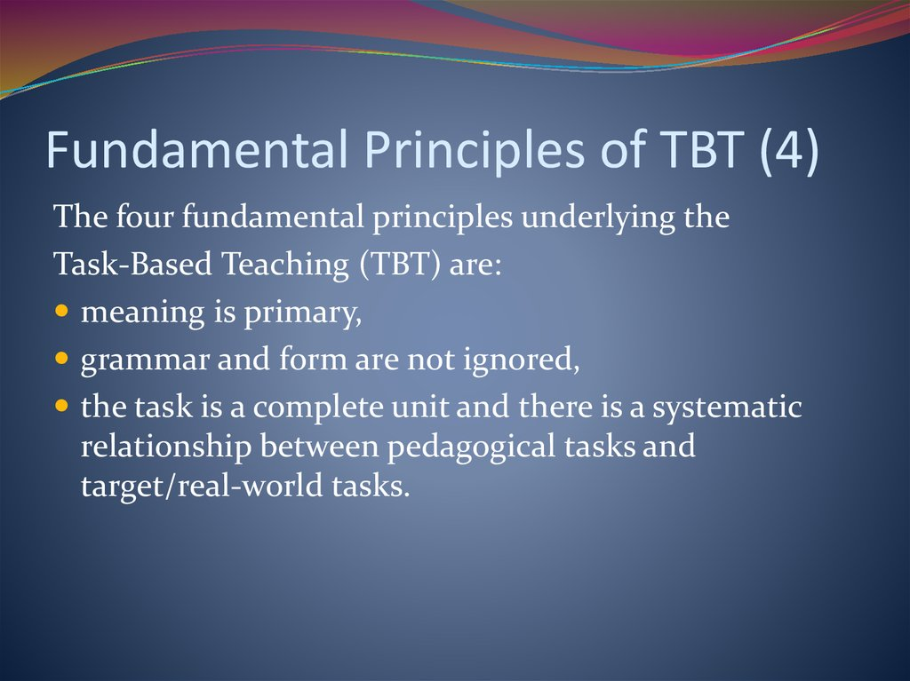 Fundamental Principles of TBT (4)