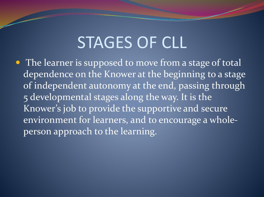 STAGES OF CLL
