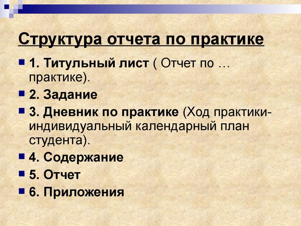 ГБПОУ МО Щелковский колледж Структура отчёта по практике  Структура отчета по практике