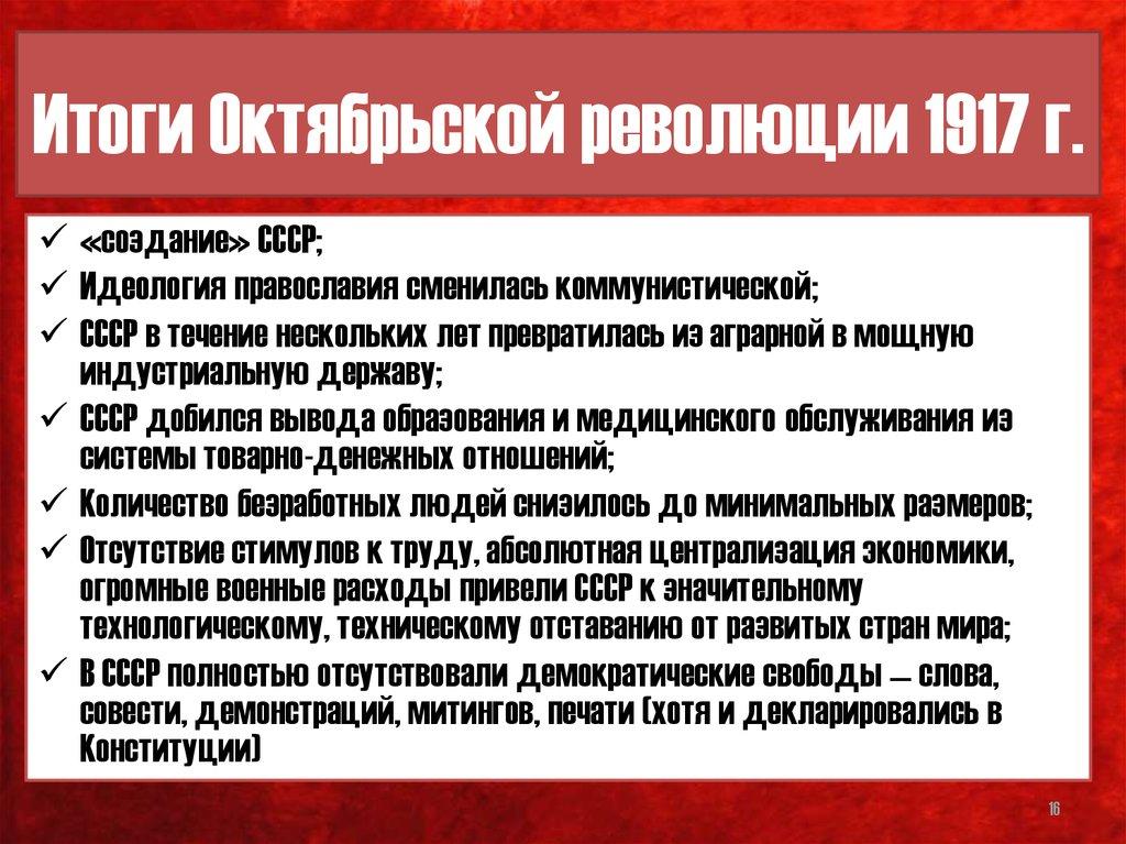 Октябрь 1917 революция эссе 8049