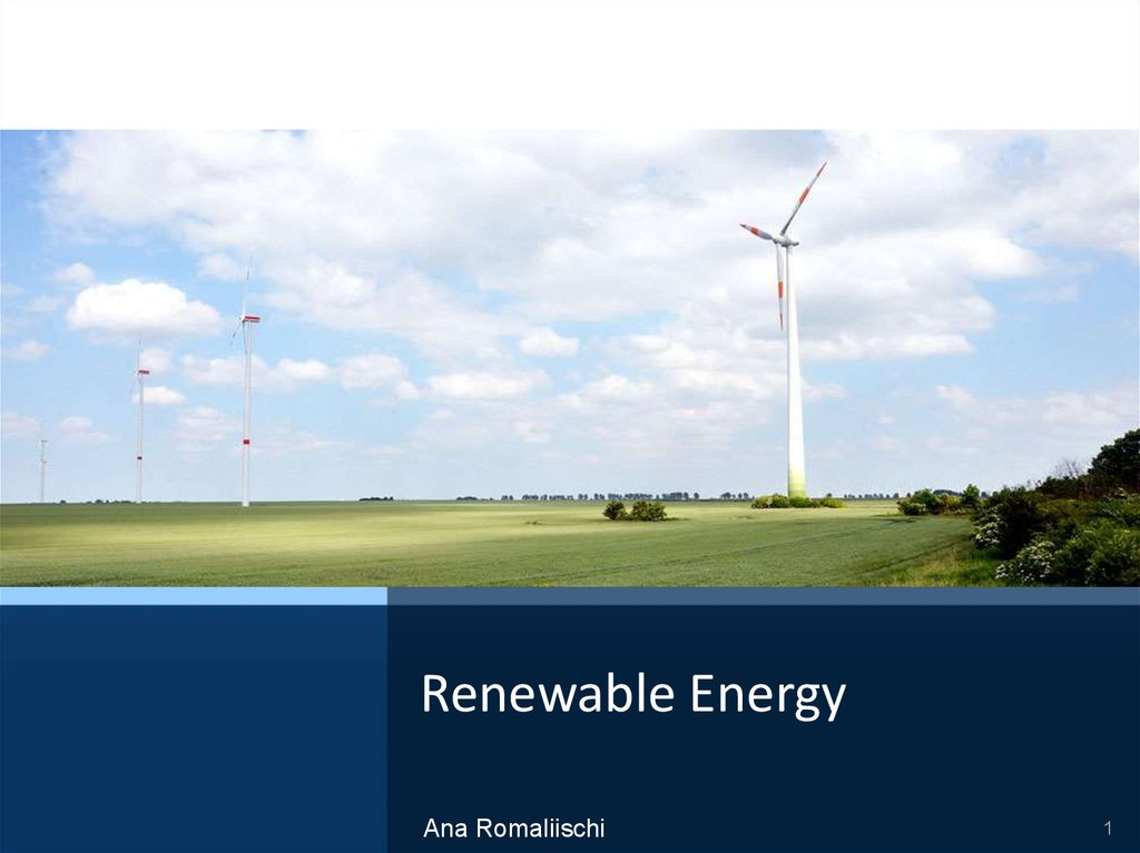 Renewable energy - online presentation