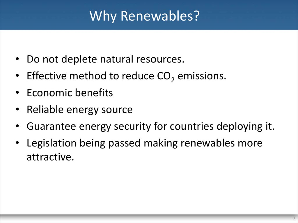 Why Renewables?