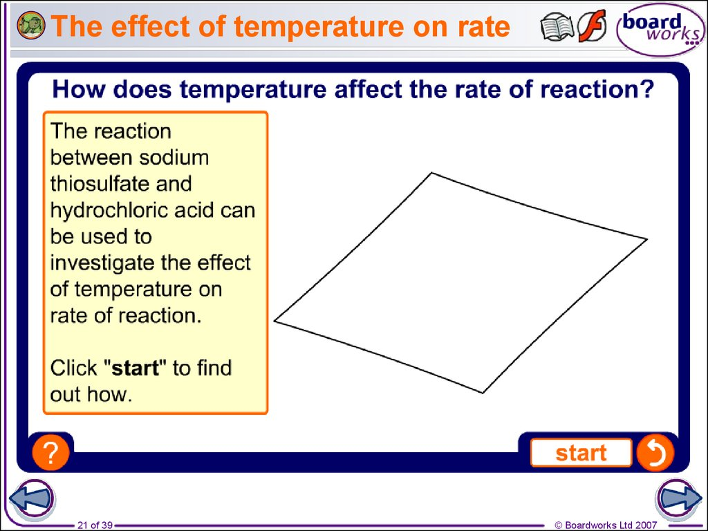 the effect of temperature on rate That's an increase of 17% for a 10° rise the rate of reaction will probably have doubled for that increase in temperature - in other words, an increase.