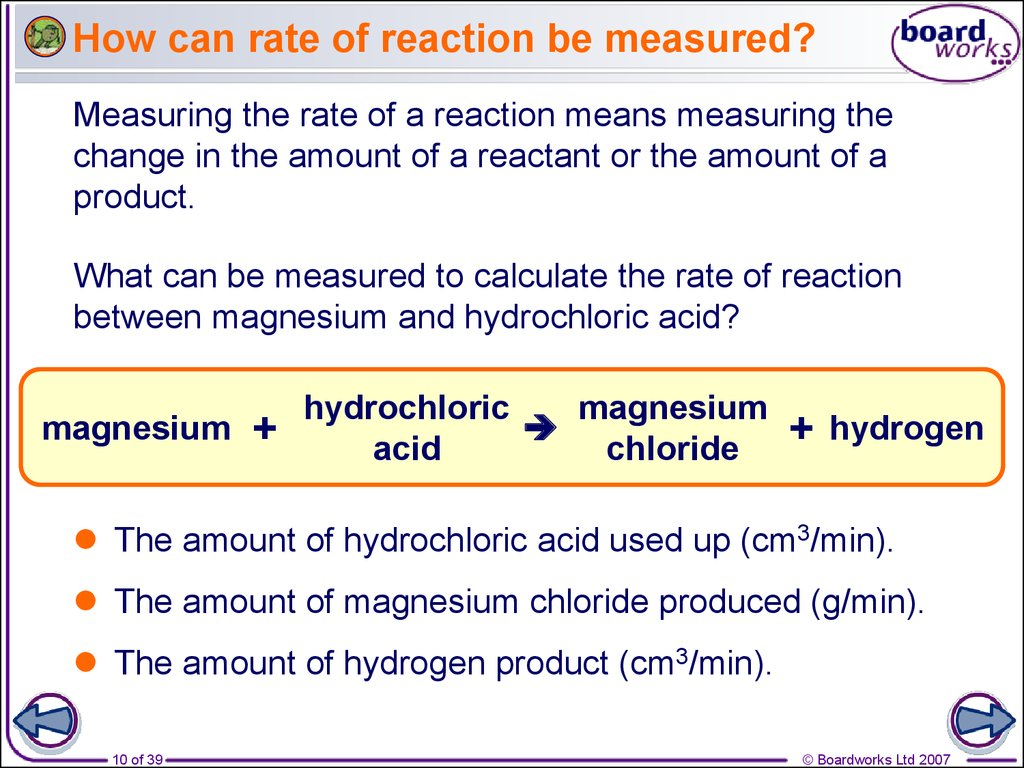 measuring the reaction of magnesium to different elements Enthalpy of formation of magnesium oxide every calorimeter is different is accomplished by producing a known quantity of heat from a reaction and measuring.