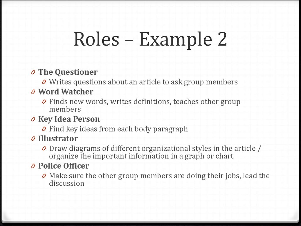 Interactive reading with reading circles online presentation roles example 1 roles example 2 fandeluxe Gallery