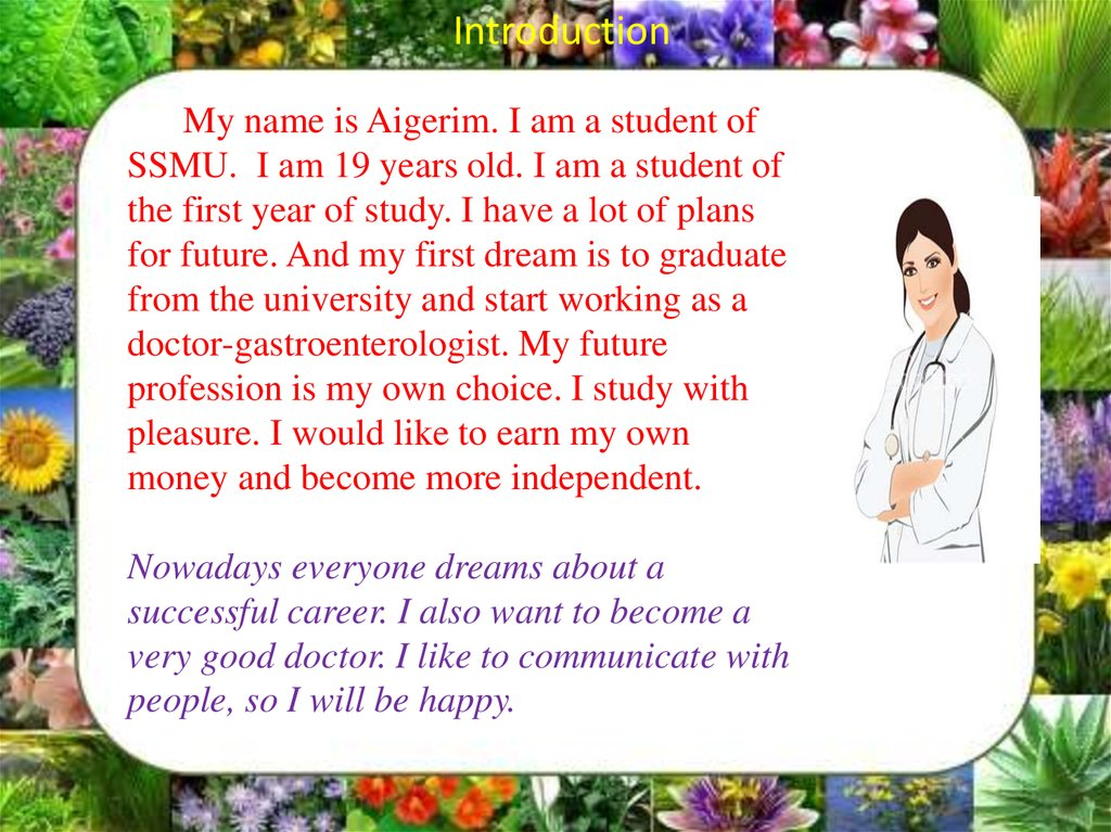 My future plans - online presentation