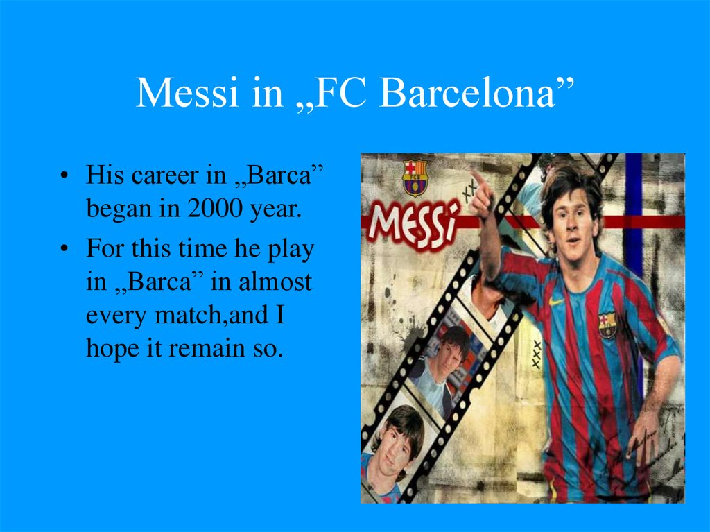 "Messi in ""FC Barcelona"""