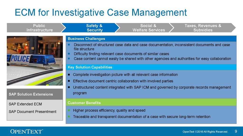 ECM for Investigative Case Management