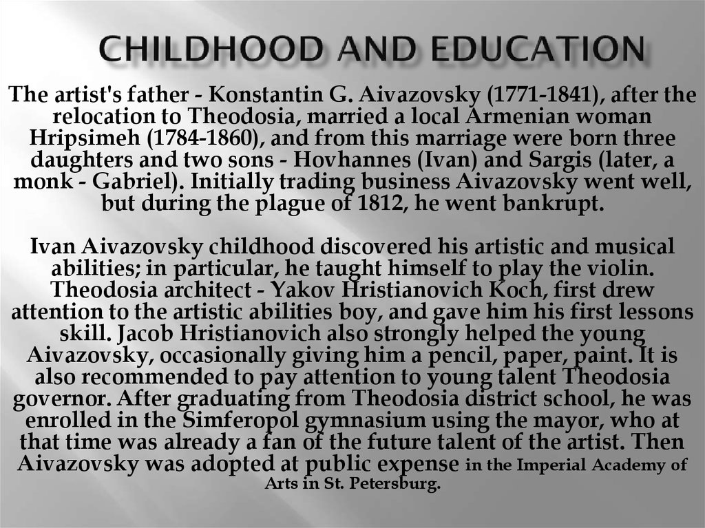 Childhood and education