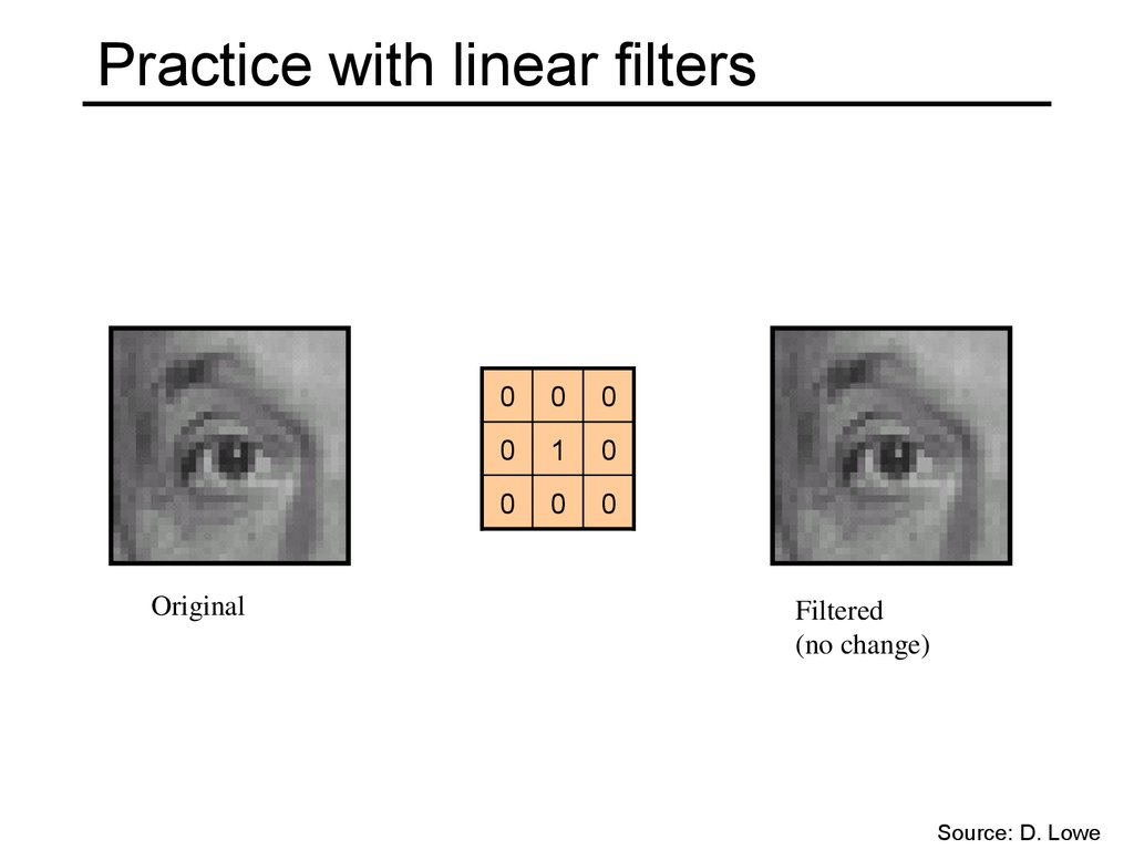 Practice with linear filters