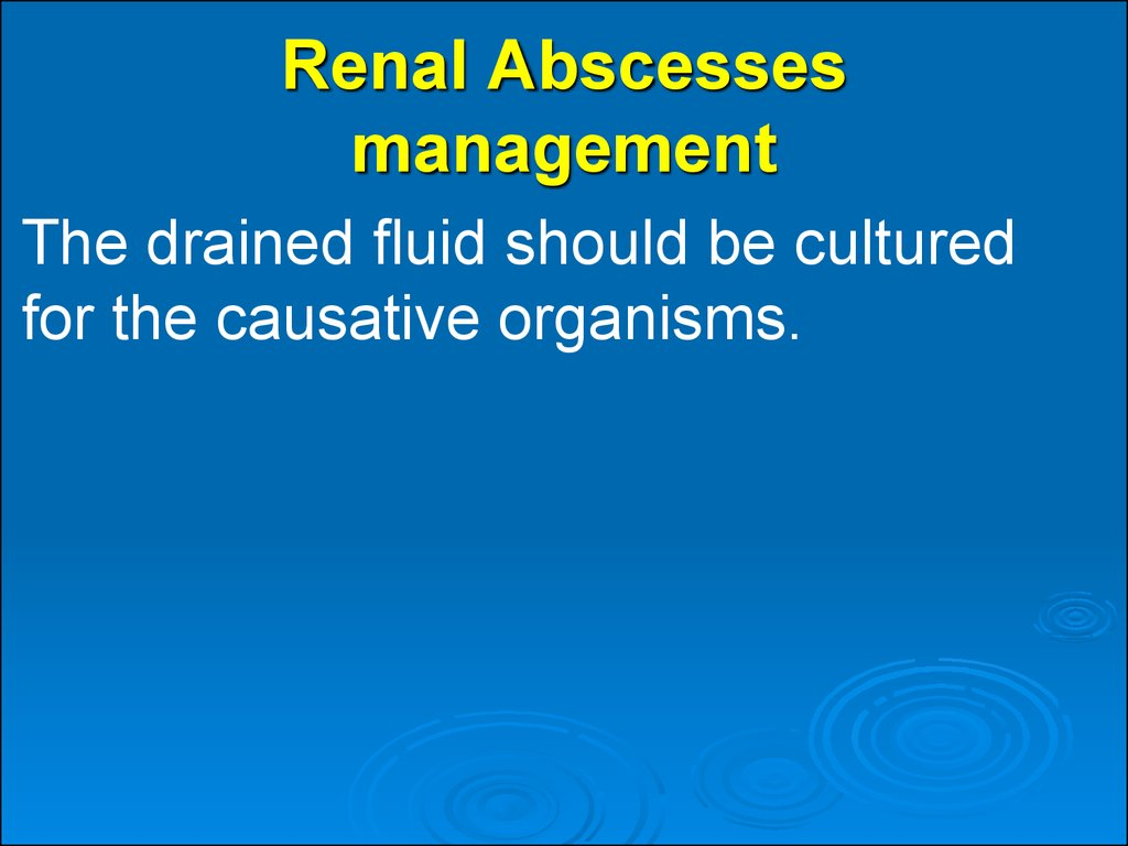 Renal Abscesses management