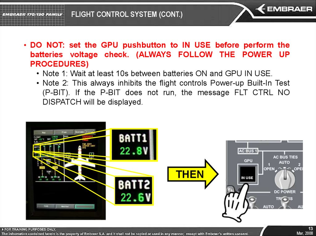 FLIGHT CONTROL SYSTEM (CONT.)