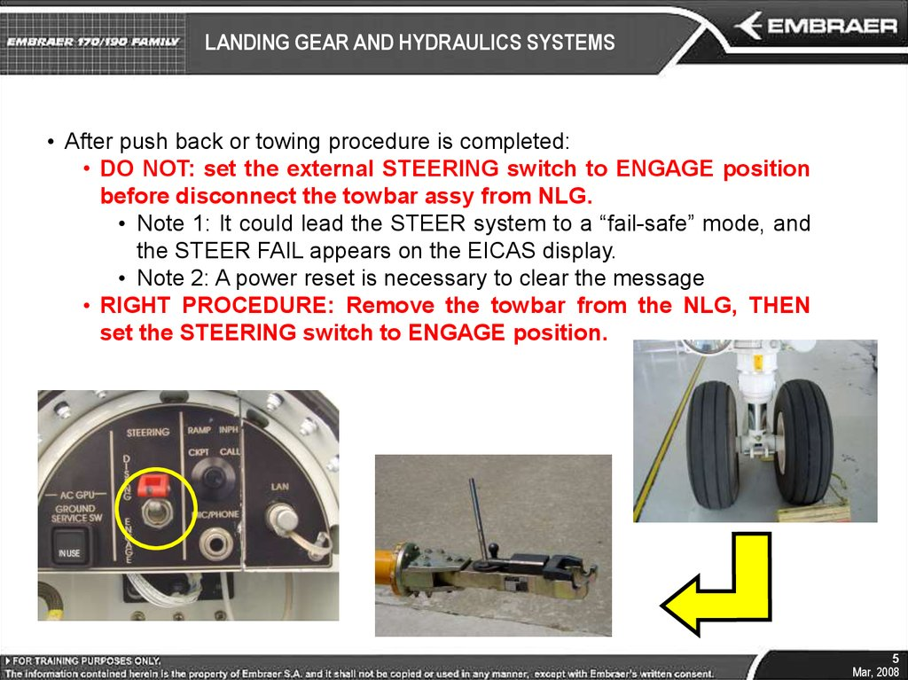 LANDING GEAR AND HYDRAULICS SYSTEMS