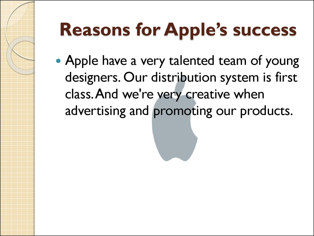 Reasons for Apple's success