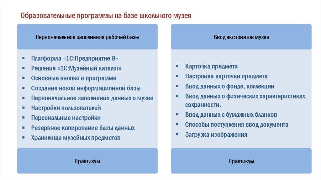 Решение «1С Музейный каталог» Основные кнопки в программе. Создание новой  информационной базы. Первоначальное заполнение данных о музее 072f99658e370