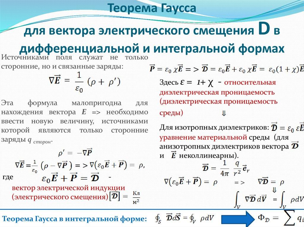 Теорема гаусса задачи с решением егэ решение задач математика 2010