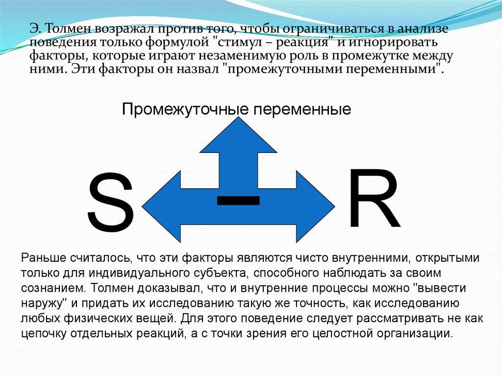 Схема бихевиоризма s r