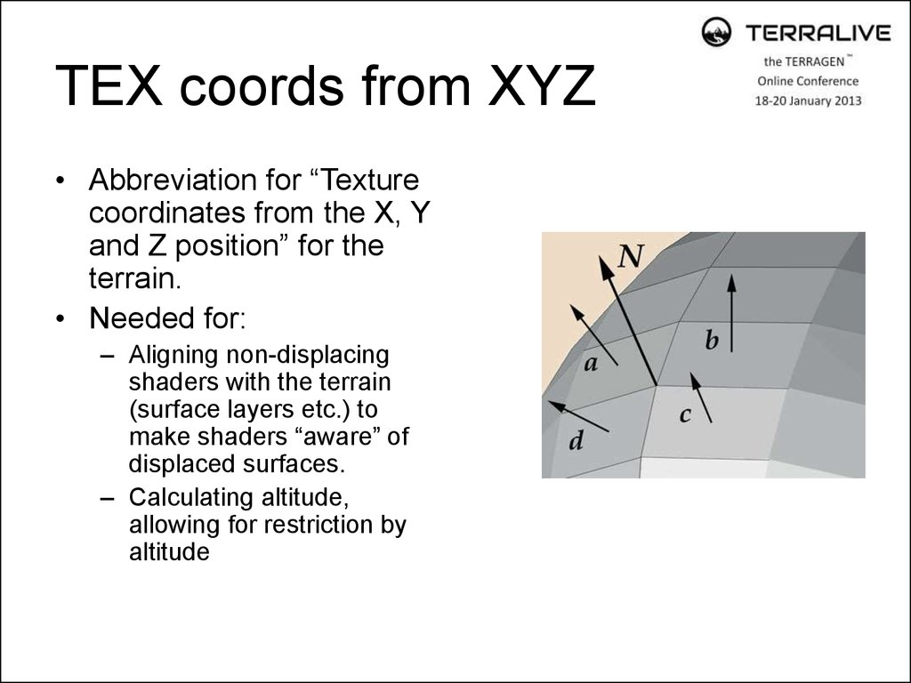 TEX coords from XYZ