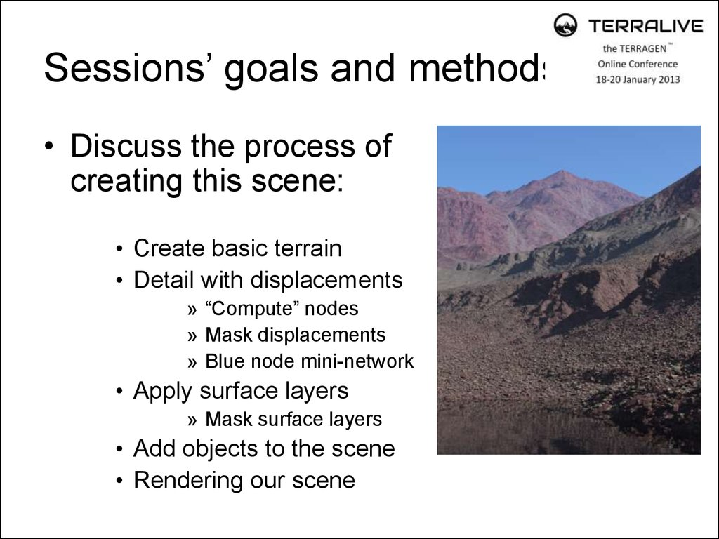 Sessions' goals and methods