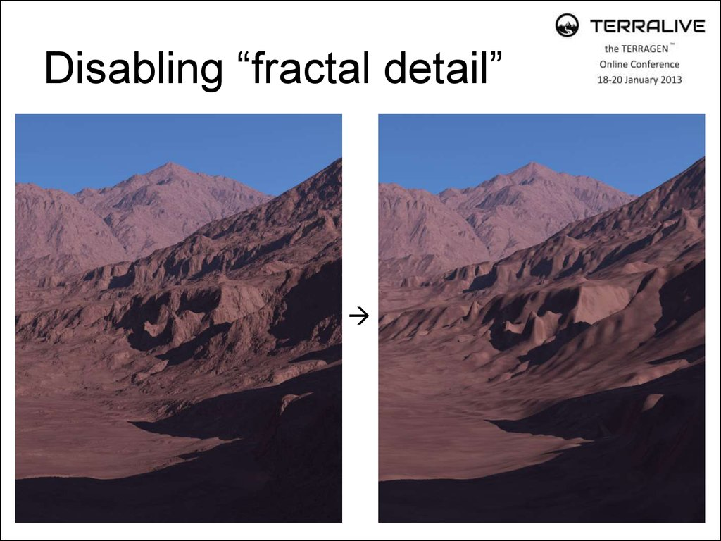 "Disabling ""fractal detail"""