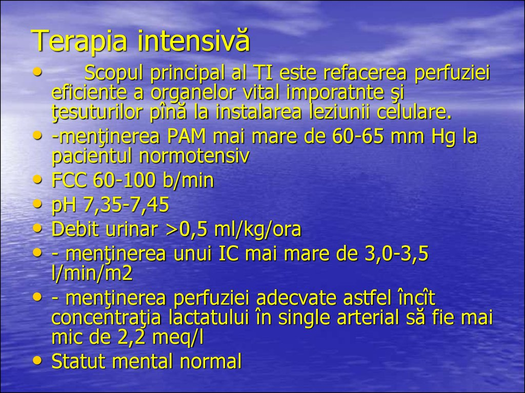 Terapia intensivă