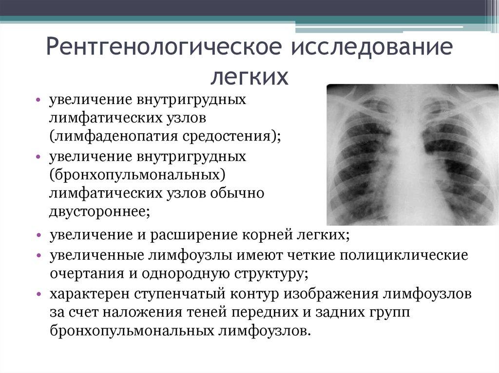знакомство с рентгенологическими исследованиями легких