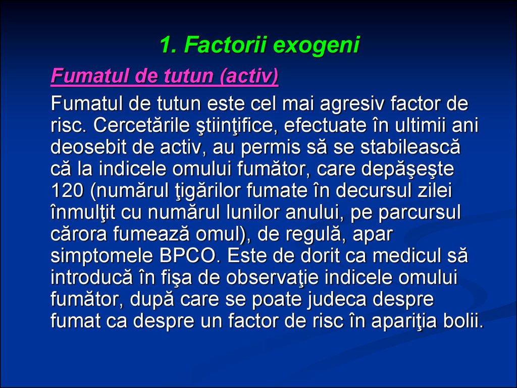 1. Factorii exogeni