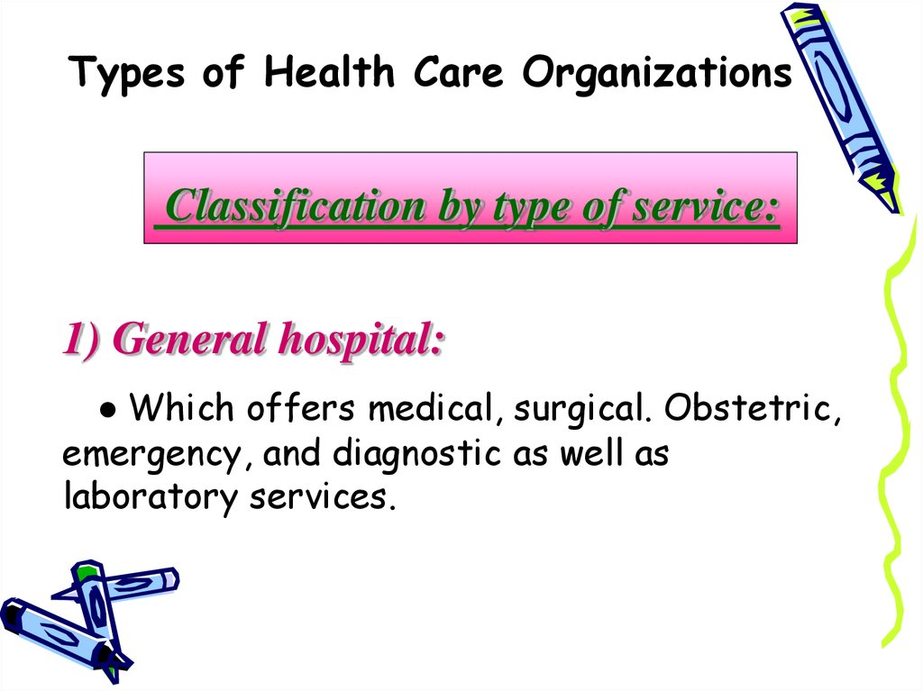Types of Health Care Organizations. The organization of ...