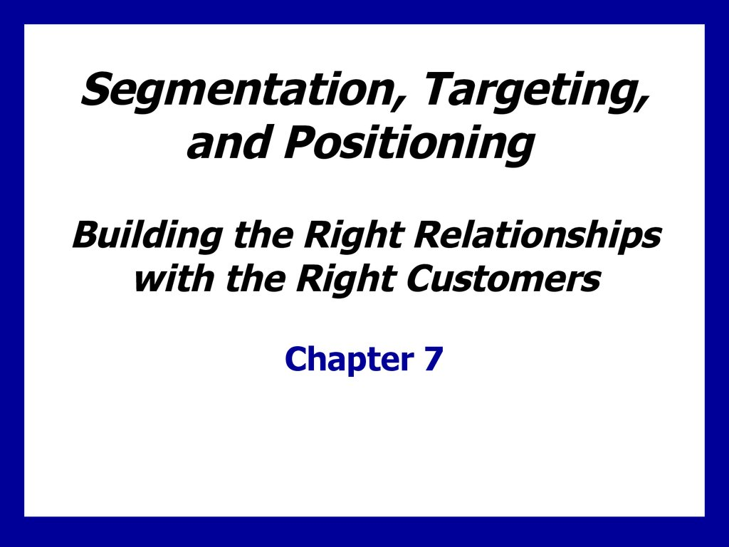 Segmenting, Targeting, and Positioning of BodyShop Company