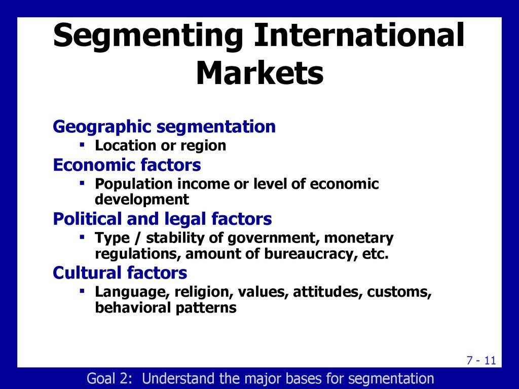 pegasus sports international market segmentation