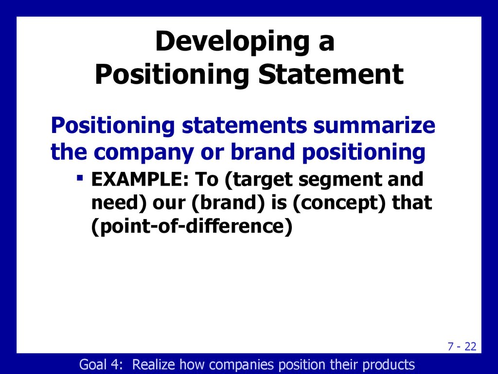 positioning and repositioning