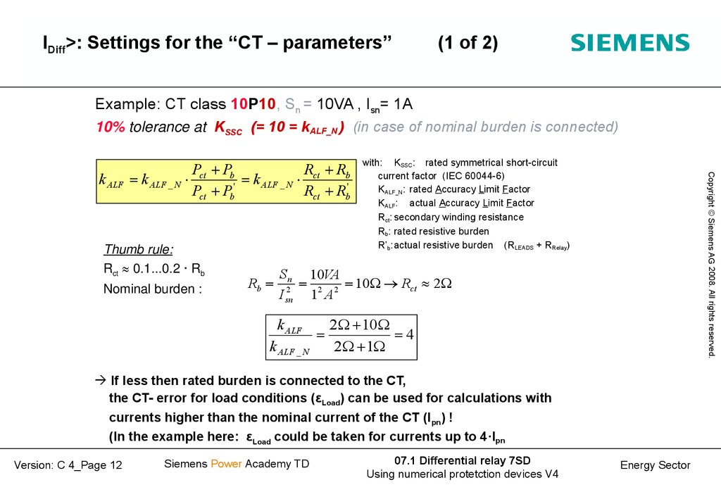 Ct calculation example