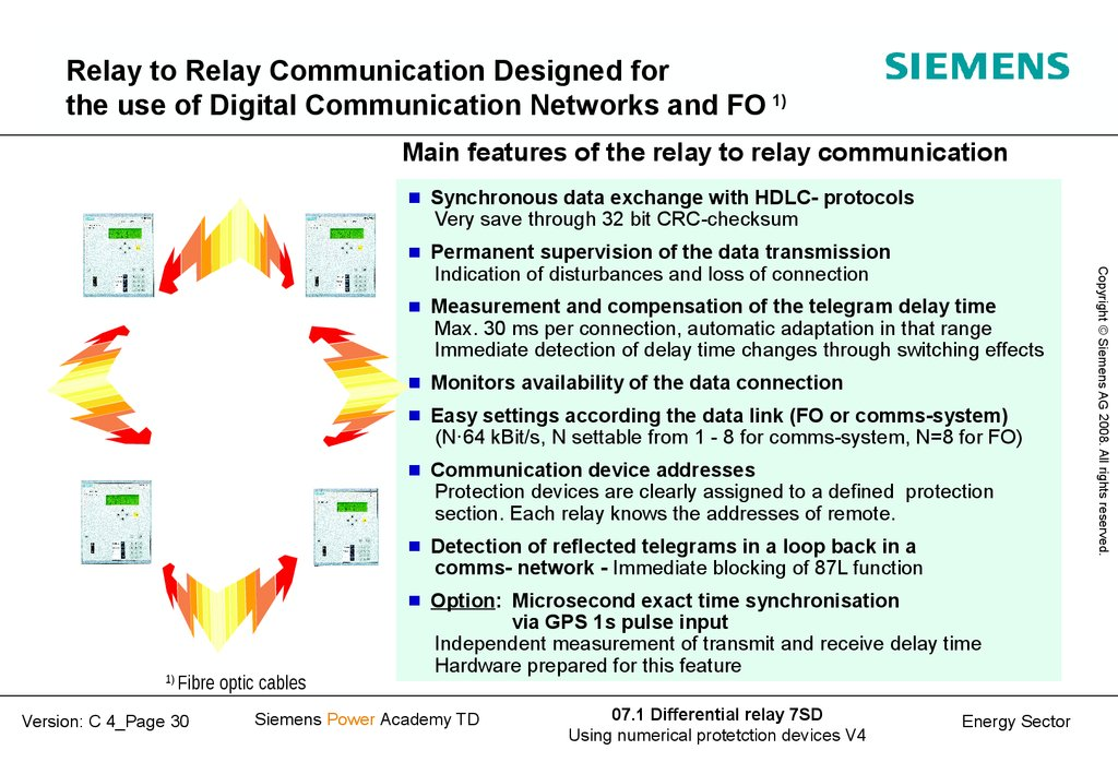 Relay to Relay Communication Designed for the use of Digital Communication Networks and FO 1)