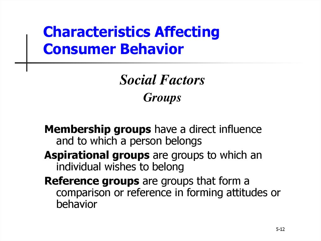 5 characteristics affecting consumer behavior