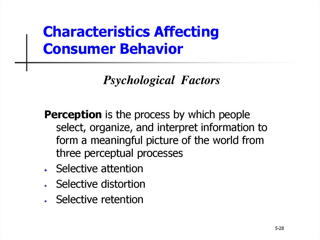 characteristics that affect consumer behavior ego