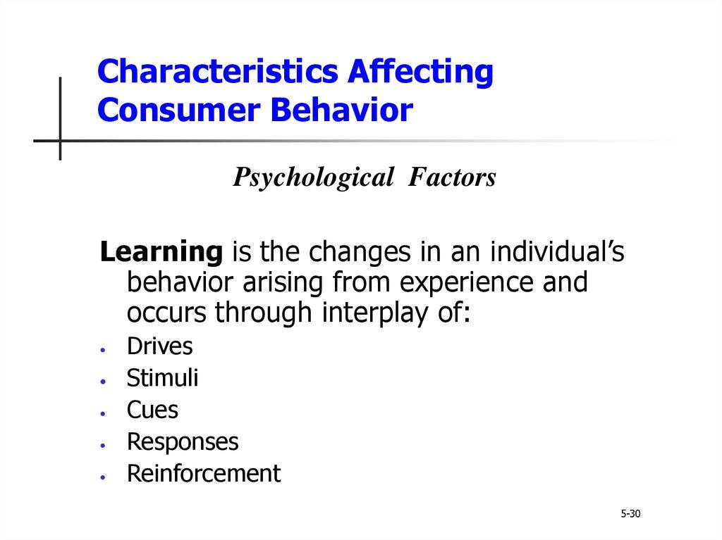 consumer behavior midterm