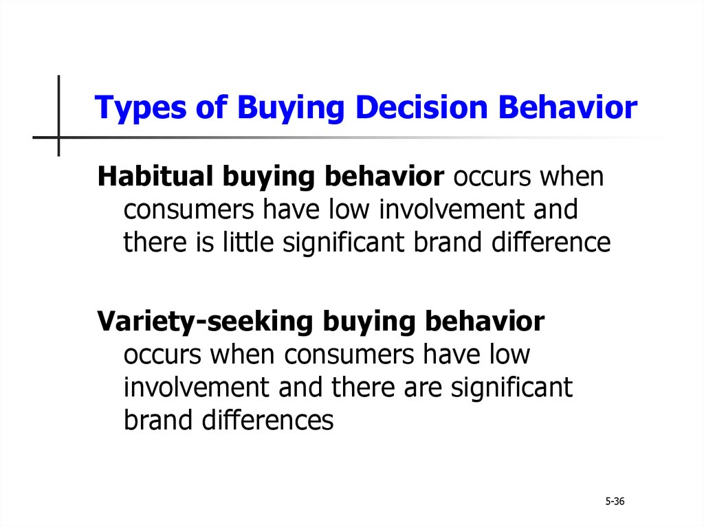 involvement and involvement factors when buying