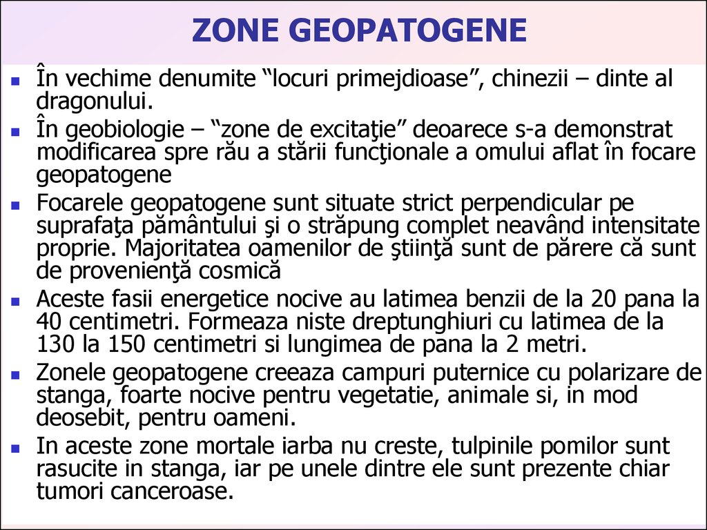 ZONE GEOPATOGENE