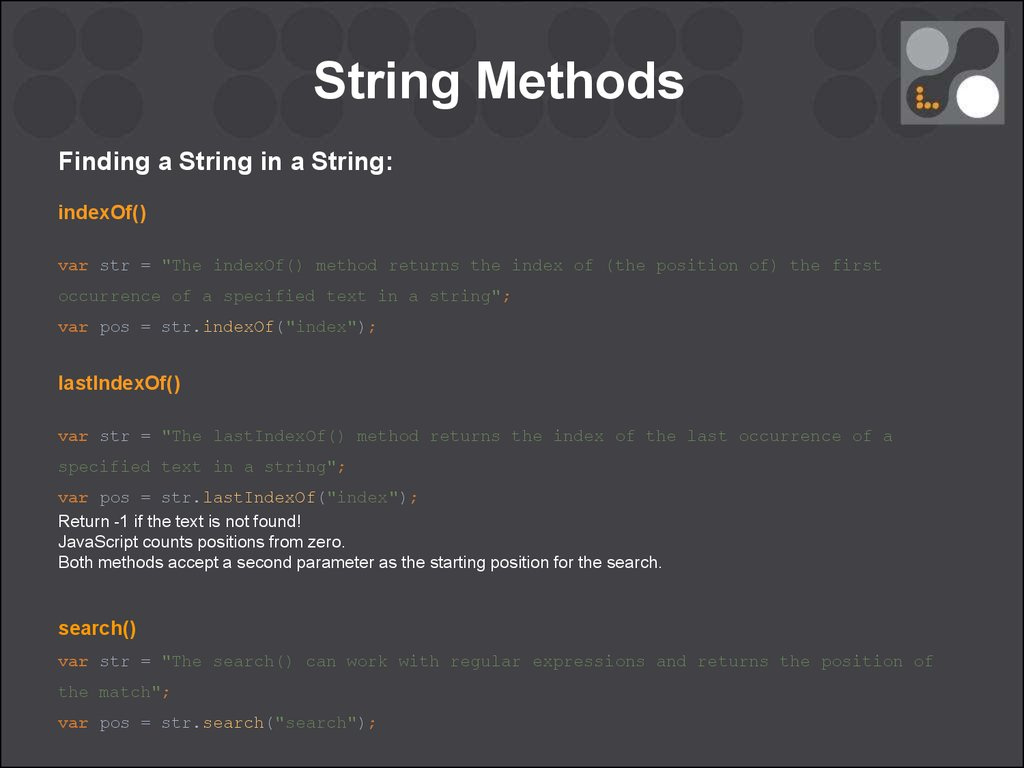Lastindexof javascript documents.openideo.comdexOf Method