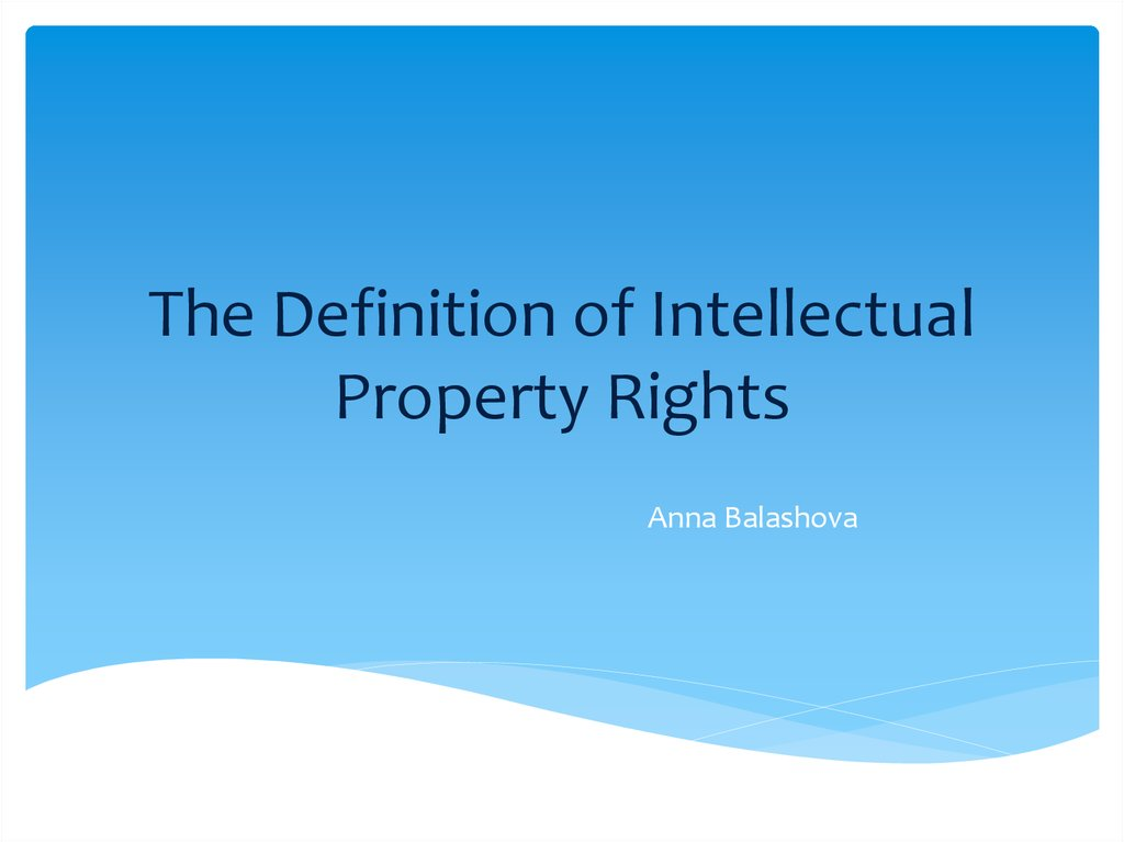 Legal Document Own Intellectual Property Company