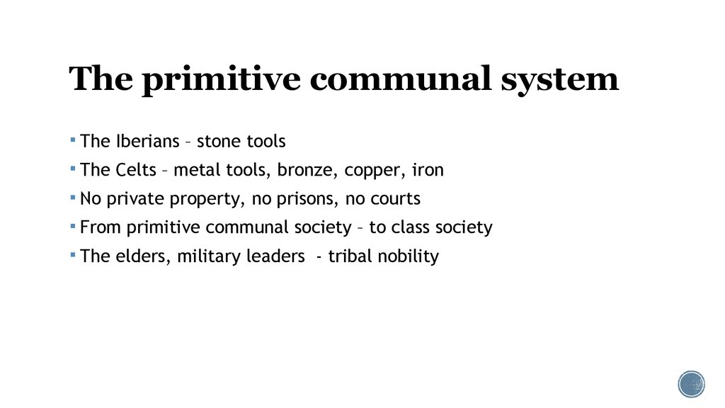 The primitive communal system
